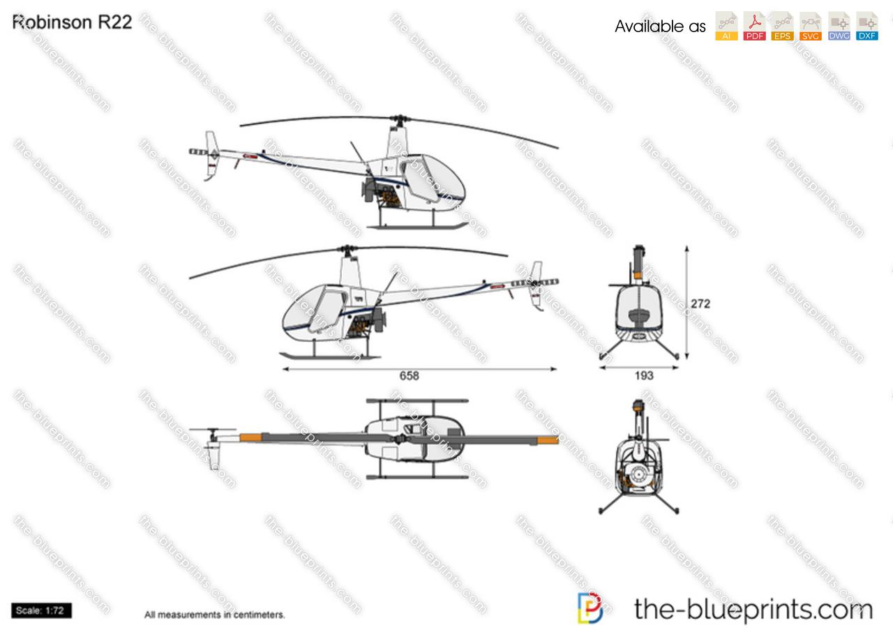 Robinson R22 vector drawing