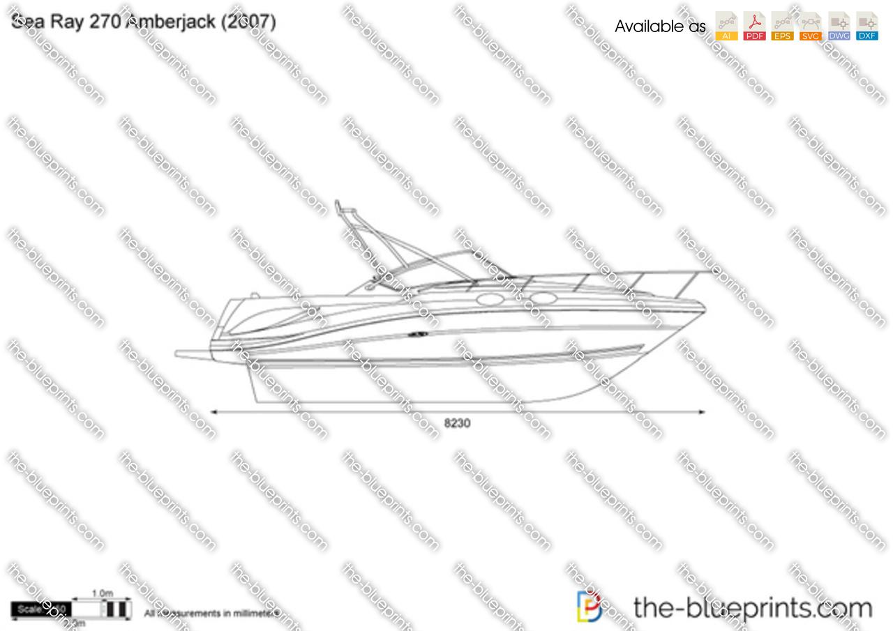 Sea Ray 270 Amberjack vector drawing
