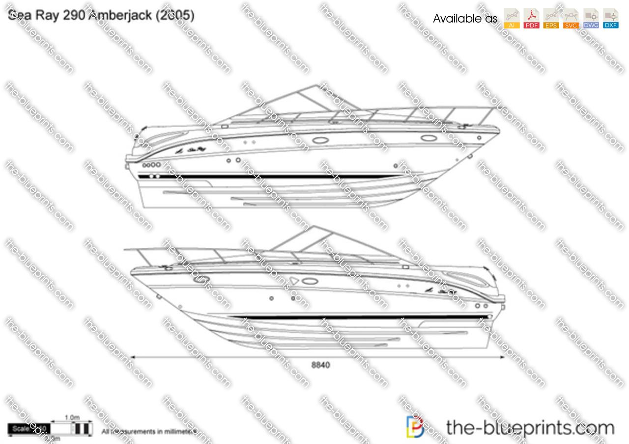 Sea Ray 290 Amberjack vector drawing