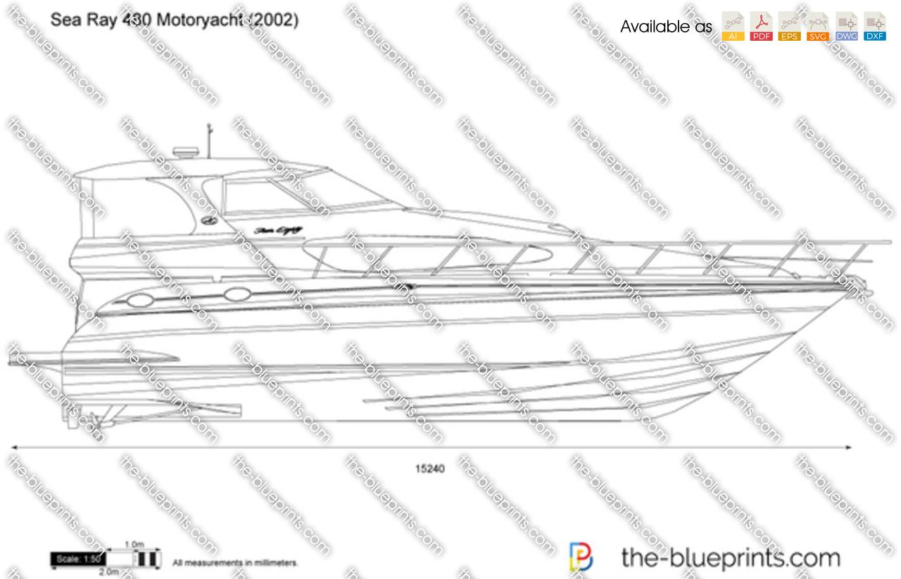 Sea Ray 480 Motoryacht vector drawing