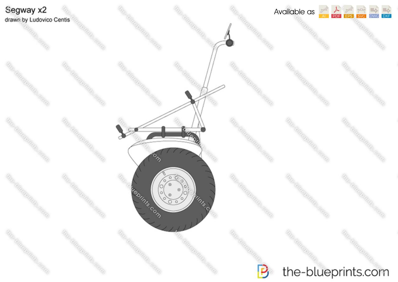 Segway X2 Vector Drawing