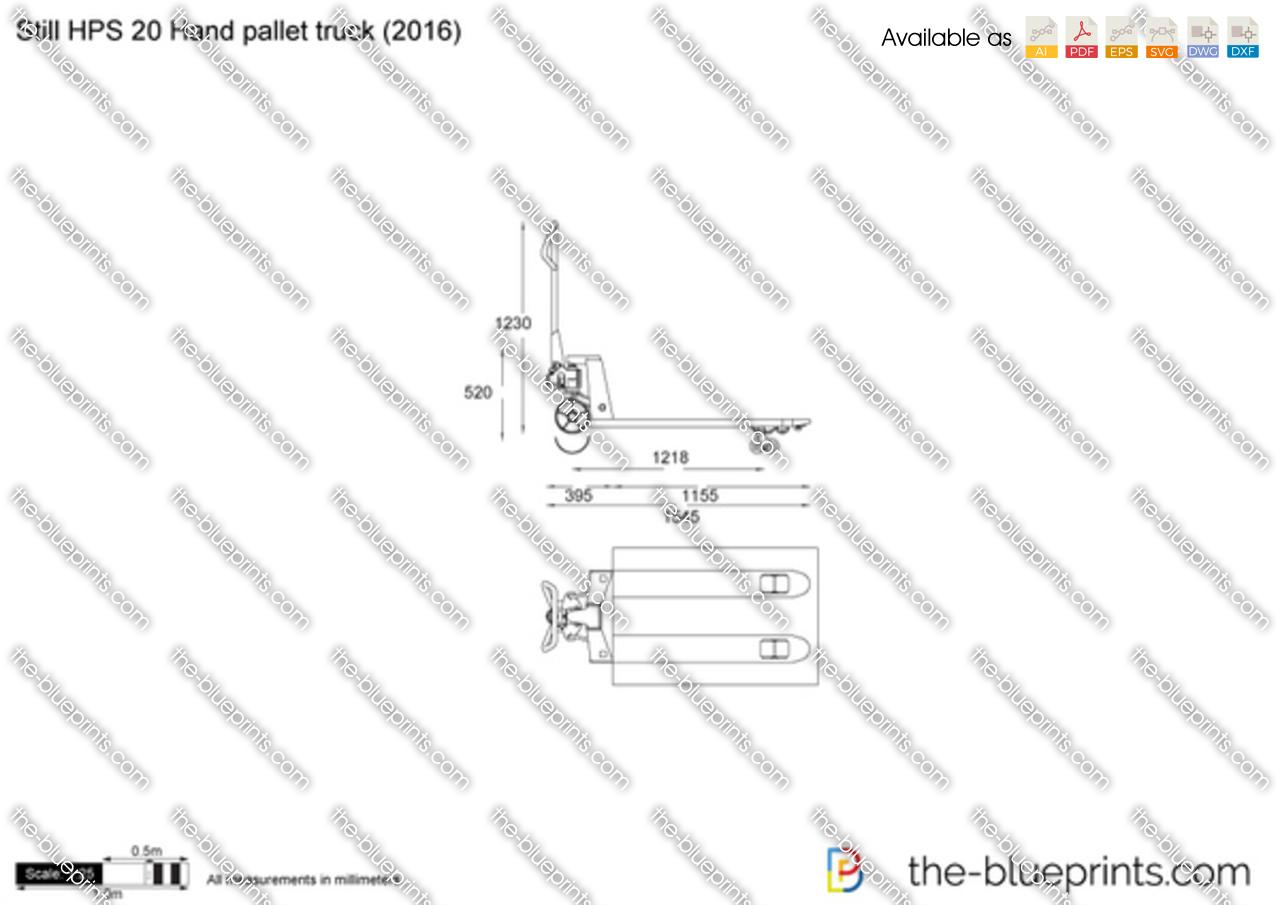 Still Hps 20 Hand Pallet Truck Vector Drawing