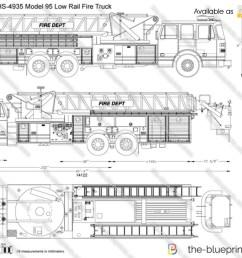 sutphen hs 4935 model 95 low rail fire truck [ 1280 x 856 Pixel ]