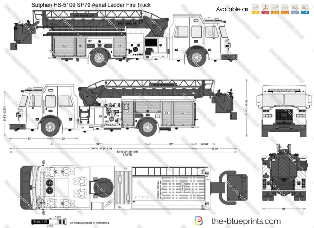 medium resolution of sutphen hs 5109 sp70 aerial ladder fire truck