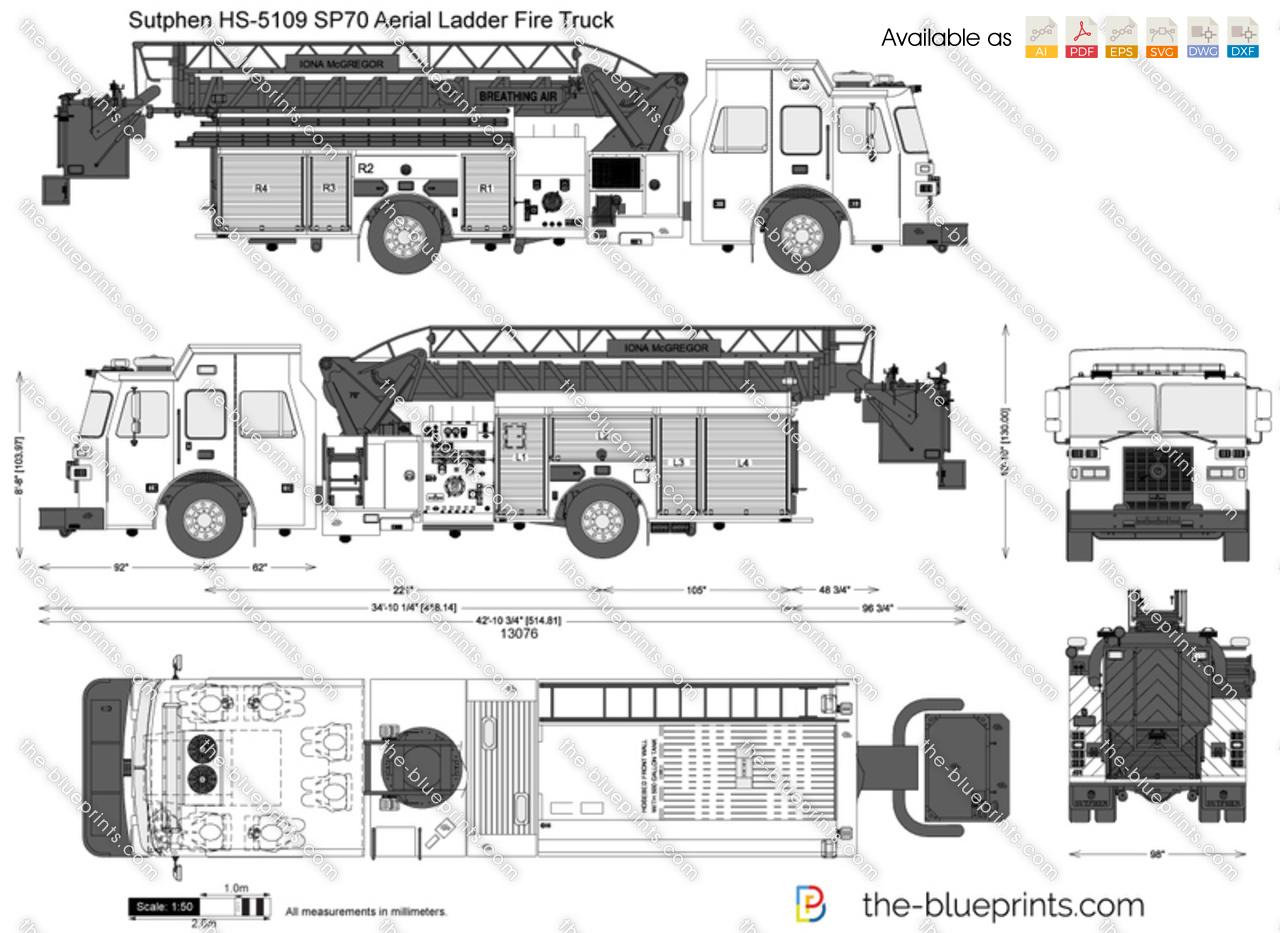 hight resolution of sutphen hs 5109 sp70 aerial ladder fire truck