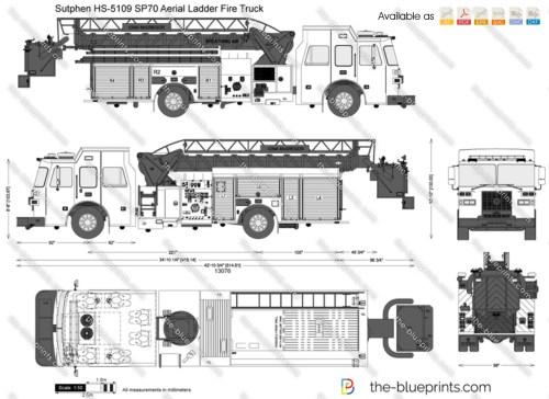 small resolution of sutphen hs 5109 sp70 aerial ladder fire truck