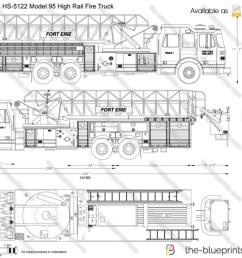 sutphen hs 5122 model 95 high rail fire truck [ 1280 x 897 Pixel ]