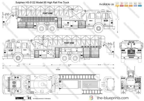 small resolution of sutphen hs 5122 model 95 high rail fire truck