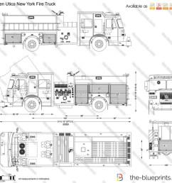 sutphen utica new york fire truck vector drawing [ 1280 x 1111 Pixel ]