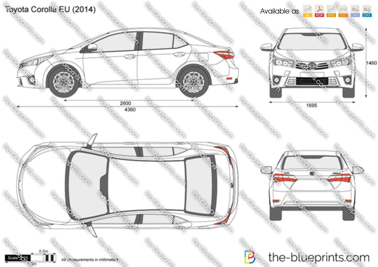 Toyota Corolla Eu Vector Drawing