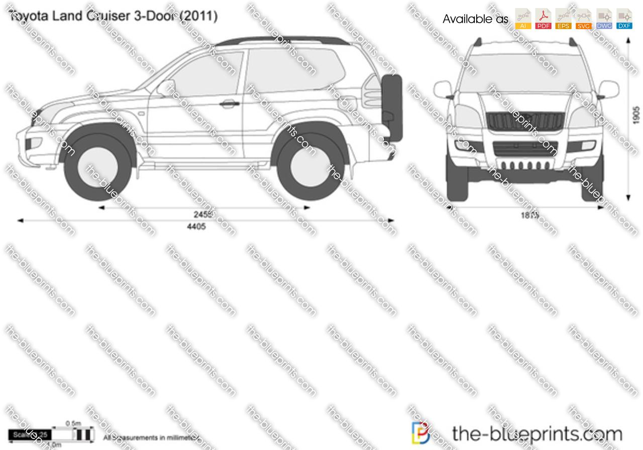 Toyota land cruiser drawing