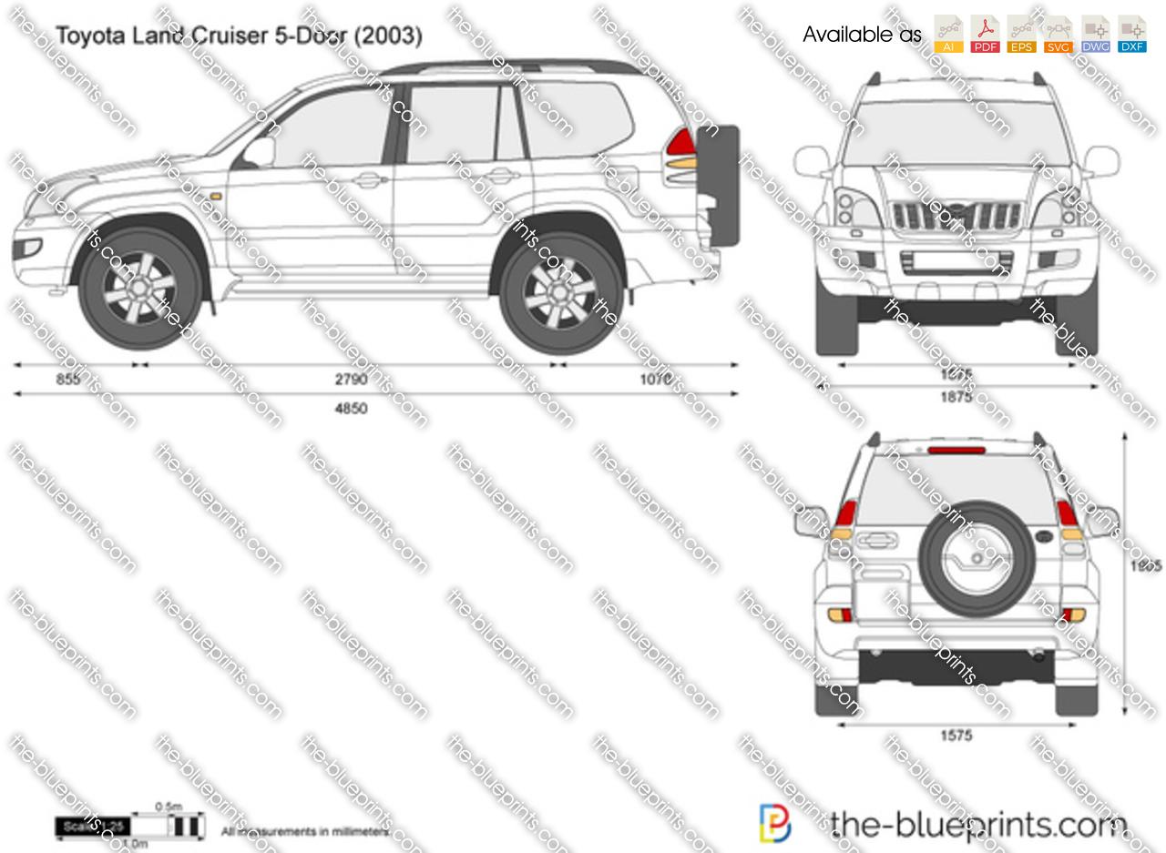 Toyota Land Cruiser 5-Door vector drawing