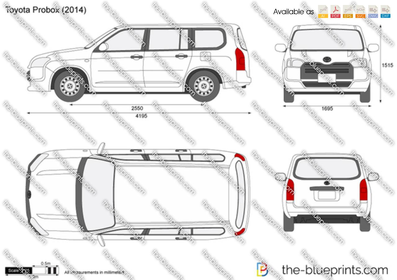 Toyota Probox Vector Drawing