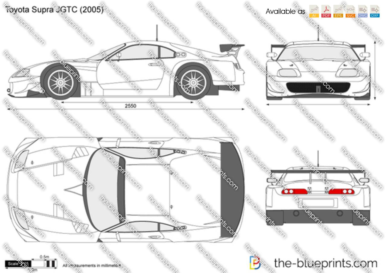 Toyota Supra Jgtc Vector Drawing