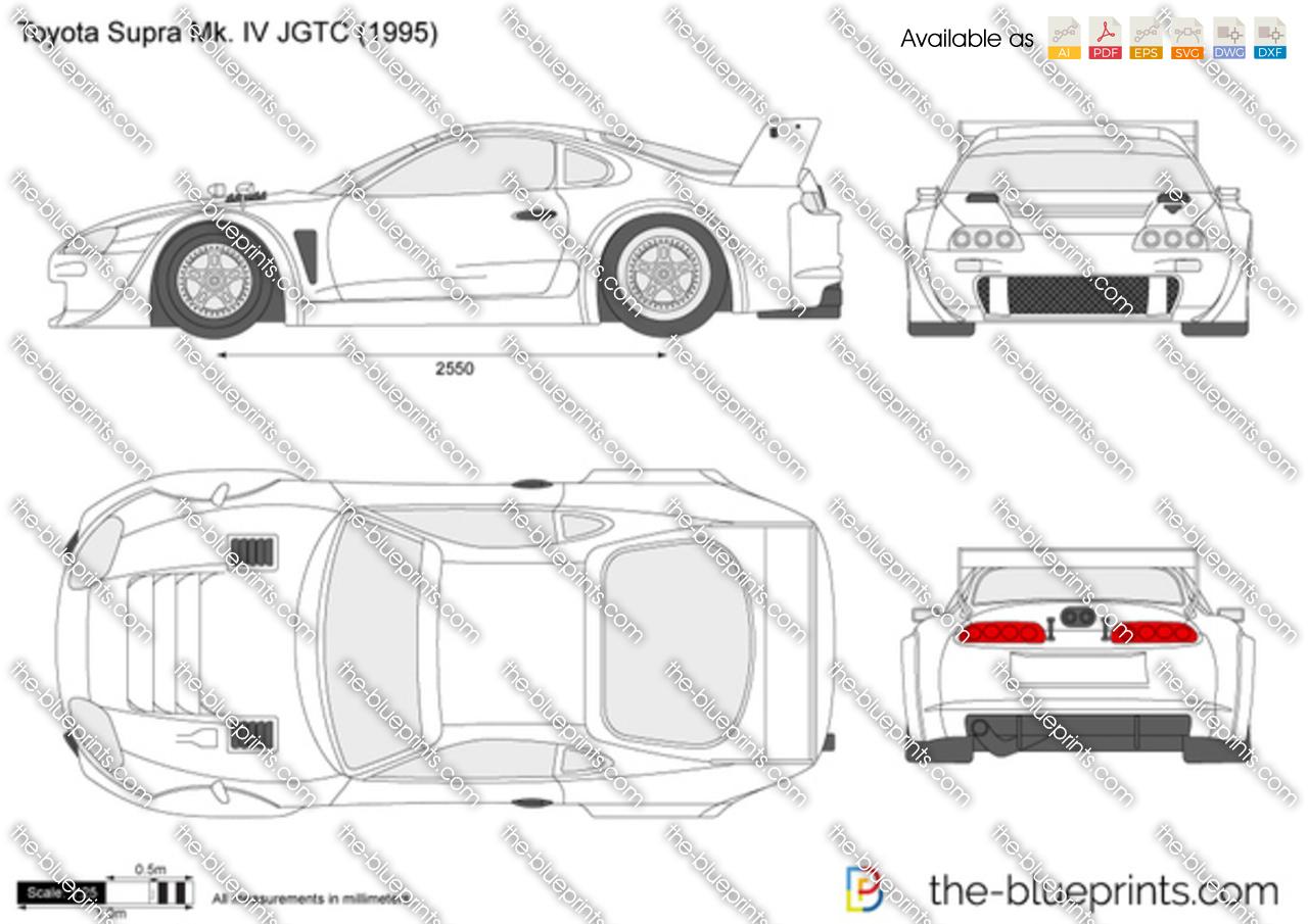 Toyota Supra Mk. IV JGTC vector drawing