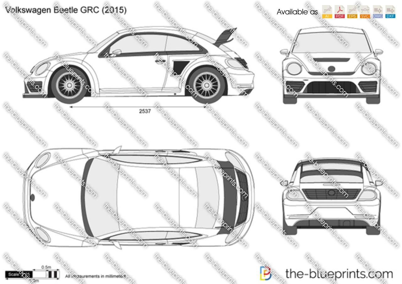 Volkswagen Beetle Grc Vector Drawing