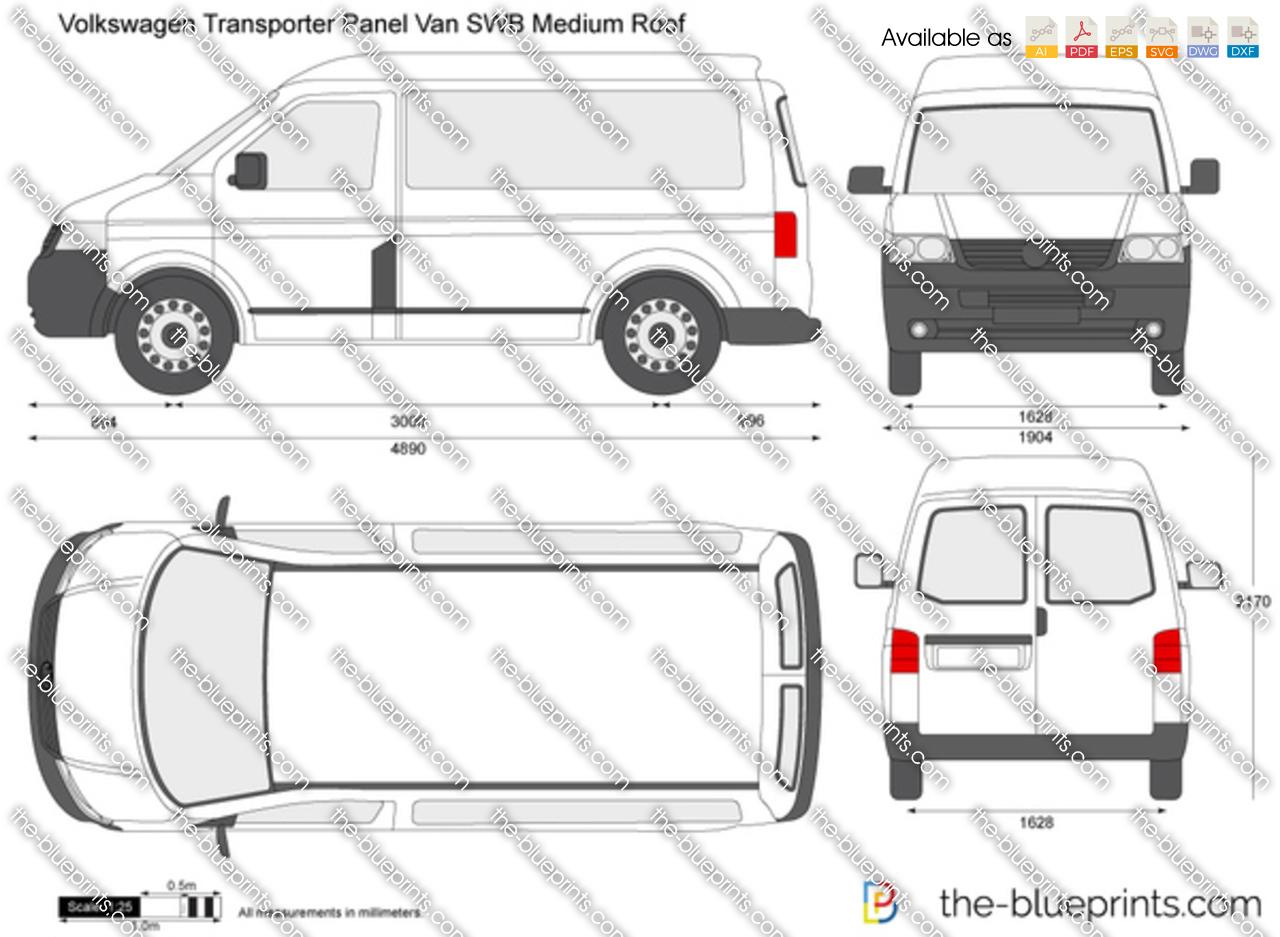 Volkswagen Transporter T5 Panel Van SWB Medium Roof vector