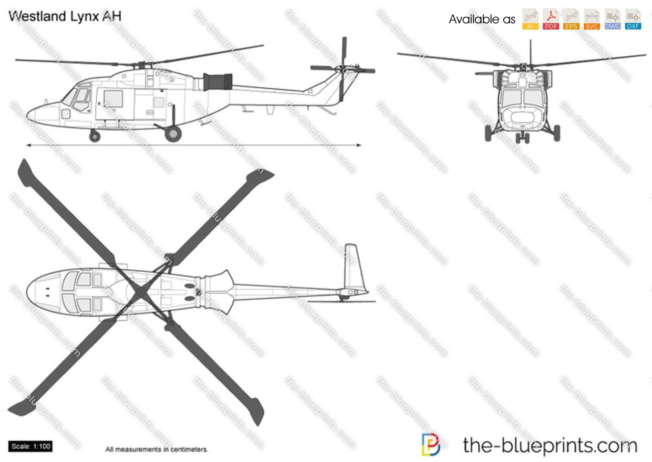 Westland Lynx AH vector drawing