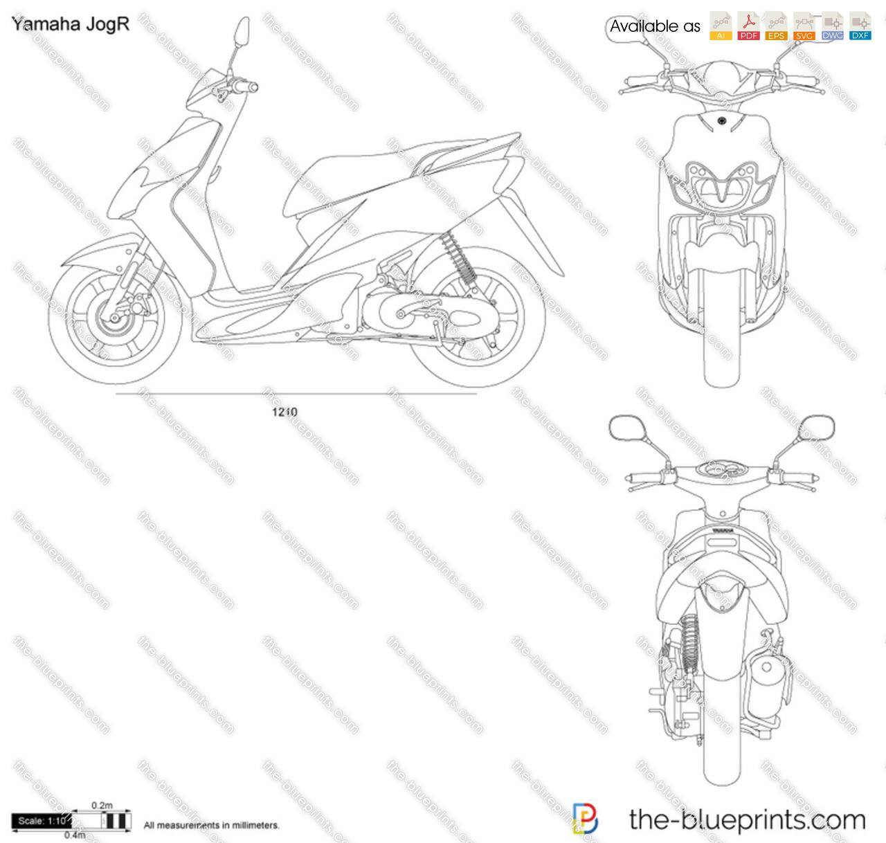 Yamaha JogR vector drawing