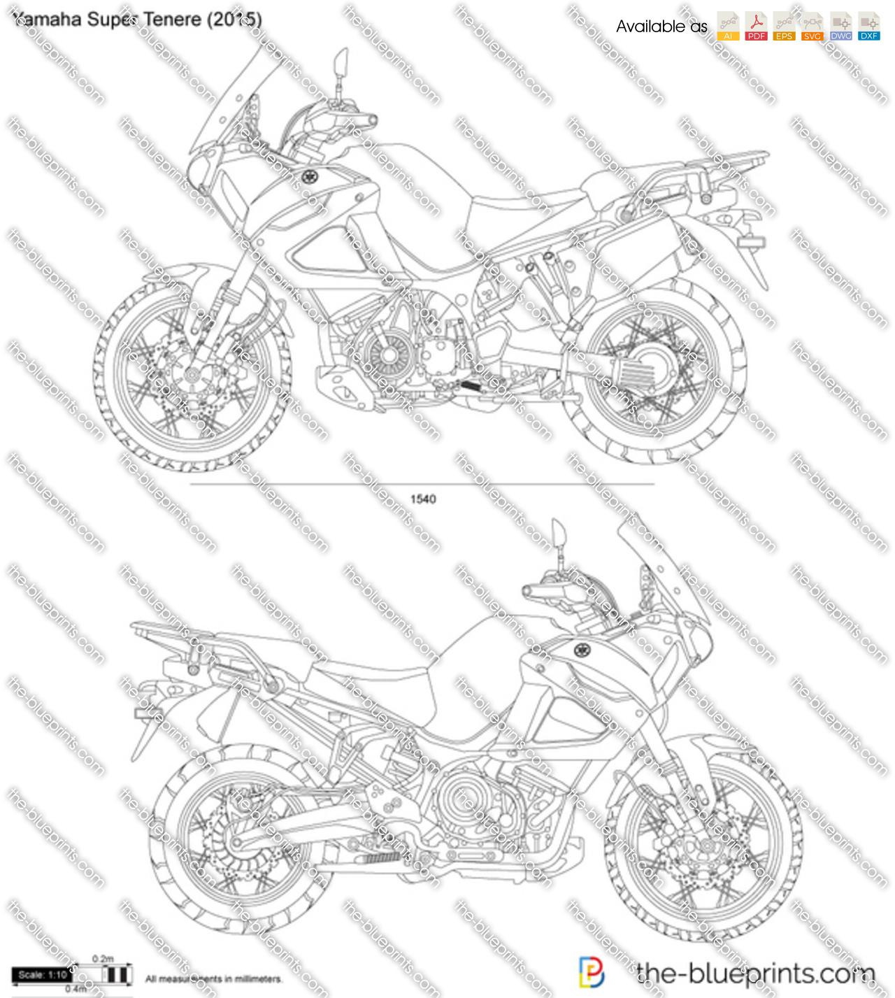 Yamaha Super Tenere vector drawing