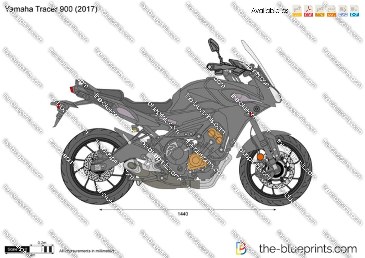 Yamaha Tracer 900 vector drawing