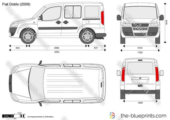 Fiat Doblo vector drawing