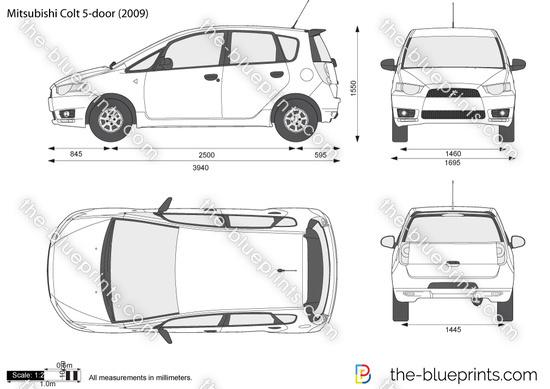 Blueprints > Cars > Mitsubishi > Mitsubishi Colt 5-Door (2007)