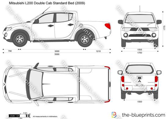 Blueprints > Cars > Mitsubishi > Mitsubishi L200 Double