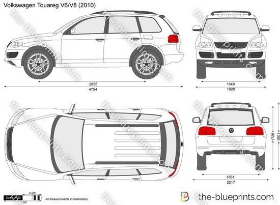 Blueprints > Cars > Volkswagen > Volkswagen Touareg (2008)