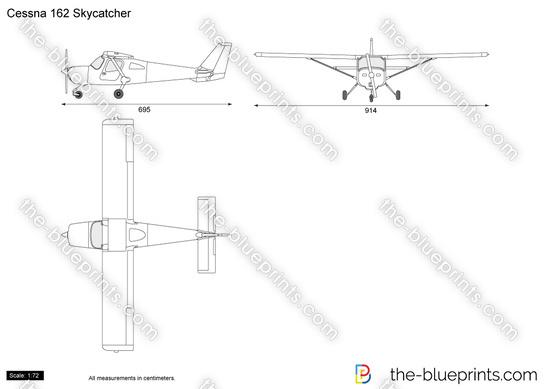 Cessna 162 Skycatcher vector drawing