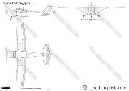 Cessna 172S Skyhawk SP vector drawing