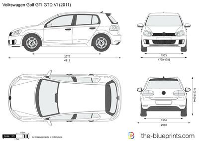 Volkswagen Bora Jetta vector drawing