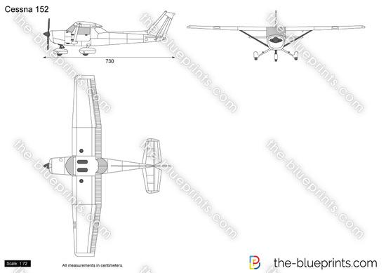 Cessna 152 vector drawing