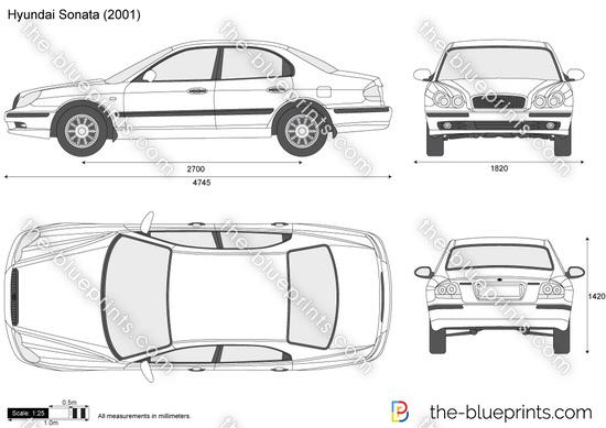 Blueprints > Cars > Hyundai > Hyundai Sonata (2006)