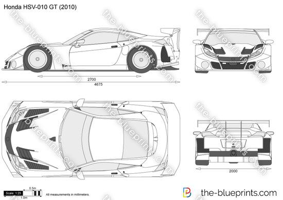 Honda HSV-010 GT vector drawing
