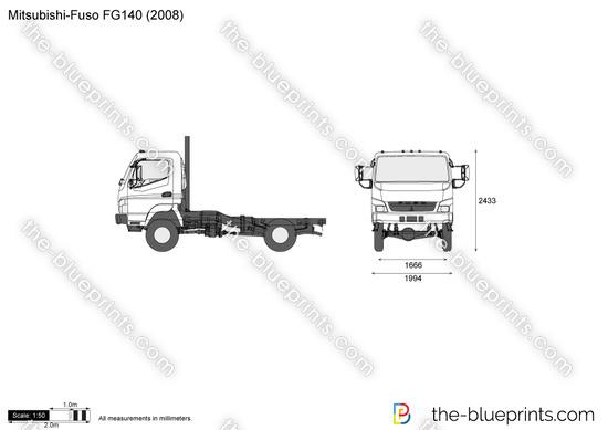 Mitsubishi-Fuso FG140 vector drawing