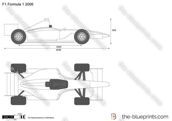 F1 Formula 1 2006 vector drawing