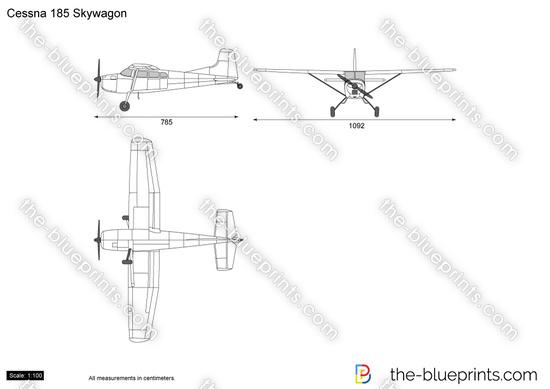 Cessna 185 Skywagon vector drawing