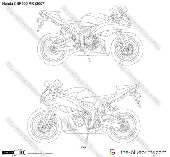 Honda CBR600 RR vector drawing
