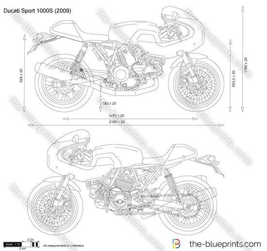 Ducati Sport 1000S vector drawing