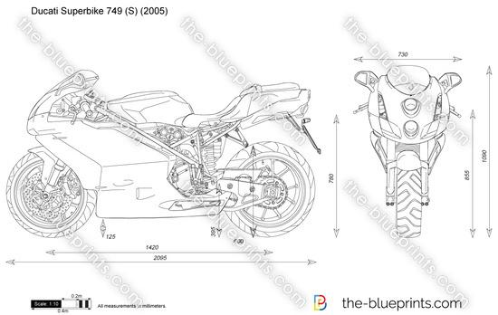 Ducati Superbike 749 (S) vector drawing