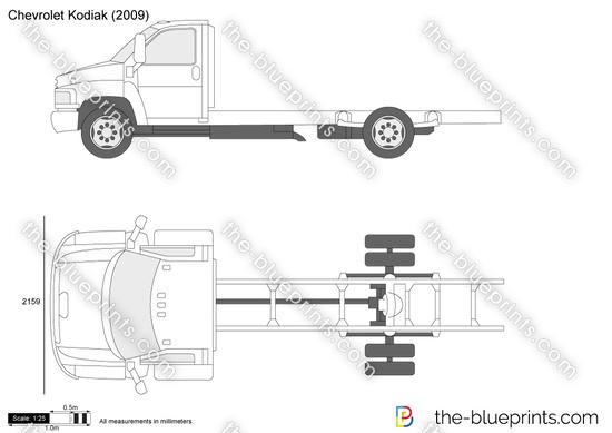 Chevrolet Kodiak vector drawing