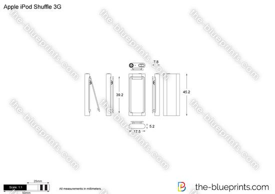 Apple iPod Shuffle 3G vector drawing