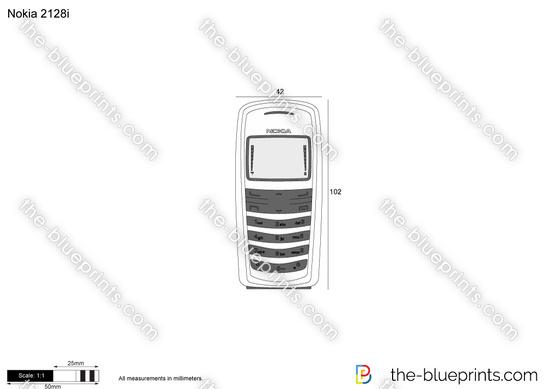 Nokia 2128i vector drawing