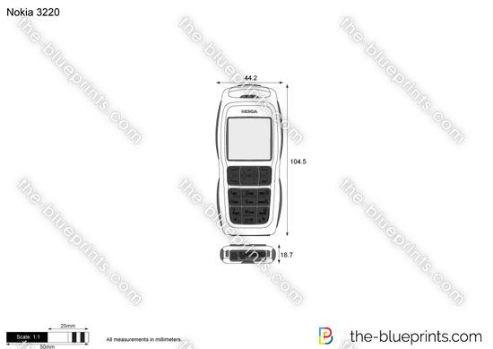 Nokia 3220 vector drawing