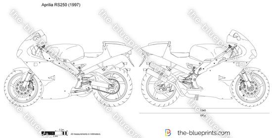 Aprilia RS250 vector drawing