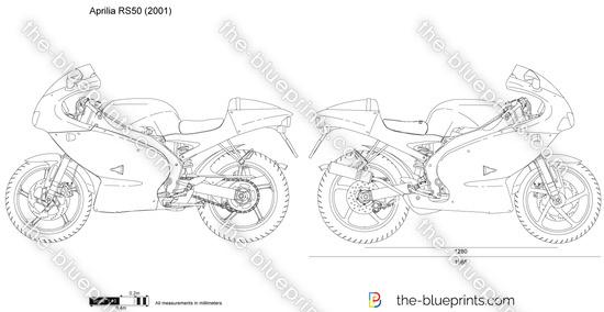 Aprilia RS50 vector drawing