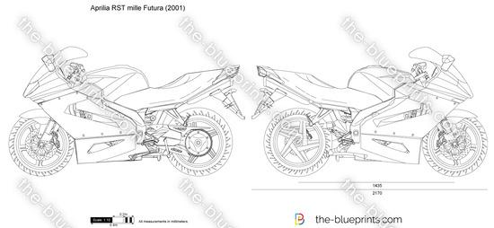 Aprilia RST mille Futura vector drawing