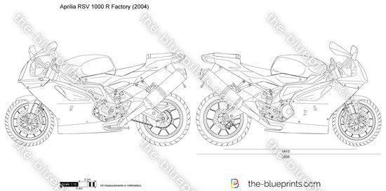 Aprilia RSV 1000 R Factory vector drawing