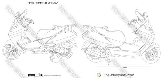 Aprilia Atlantic 125-250 vector drawing